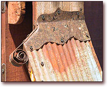 Narrow Corrugated Roof Detail on 3-Tree Birdhouse Post by Fowl Places