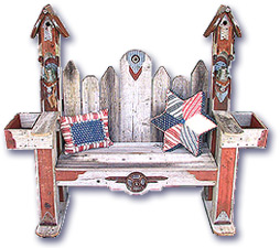 Birdhouse Bench - Fowl Places